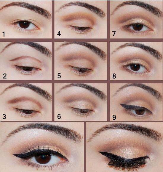 Как красиво накрасить глаза цвета кофе?