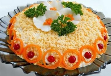 Салат «Любовница»: рецепт пошаговый (с морковью, курицей)
