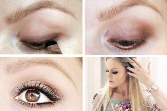 Макияж для блондинок с серо-зелеными глазами