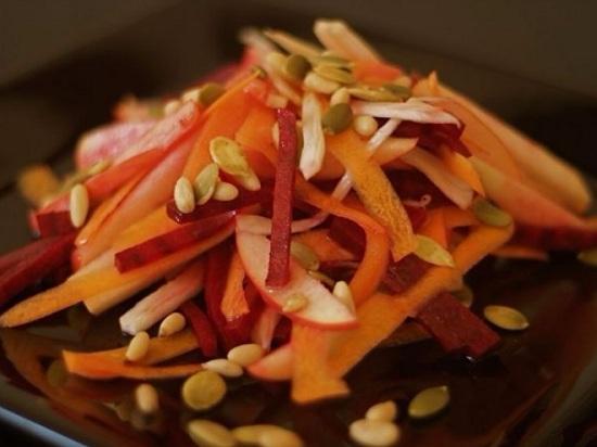 вегетарианский вариант зимнего салатика
