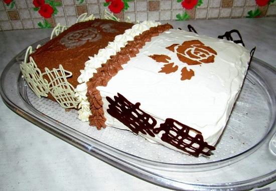 торт «День и ночь» со сгущенкой