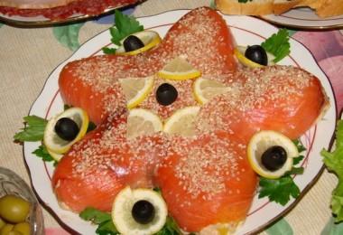 Салат «Морская звезда» с красной рыбой: рецепты с фото