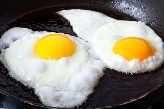 Калорийность яичницы из 2 яиц на масле