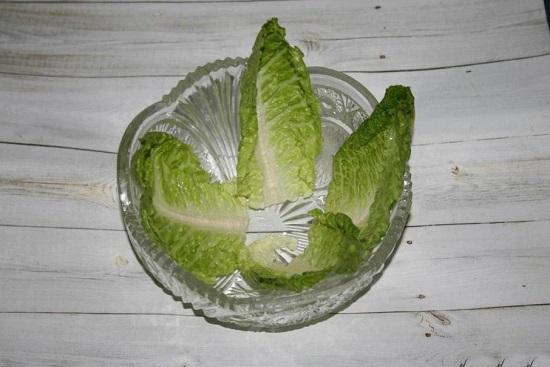 промываем салатные листья