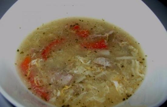 суп из куриных субпродуктов с лапшой