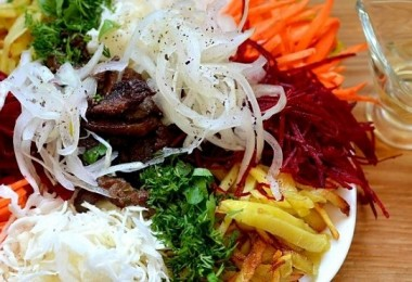 Салат «Чафан»: рецепты пошаговые с майонезом