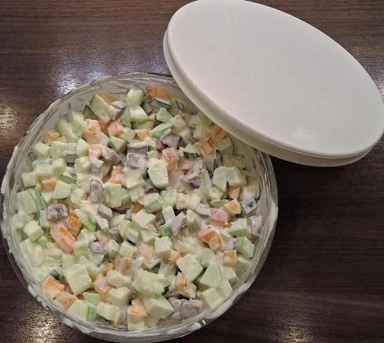 вариант приготовления салата «Радуга»