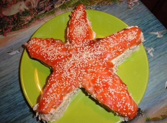 Салат «Морская звезда»: рецепт с фото
