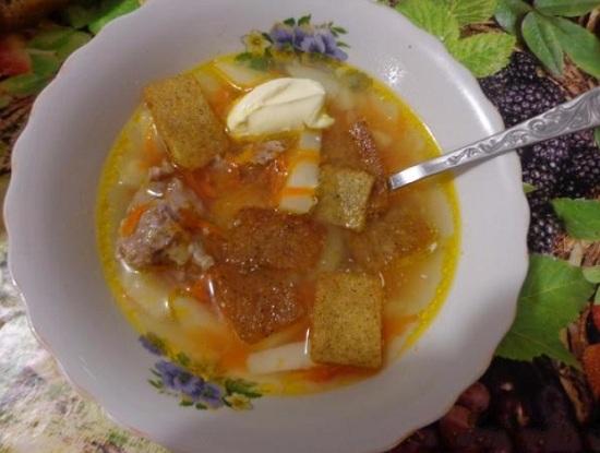 Суп из куриных желудков: рецепт с фото