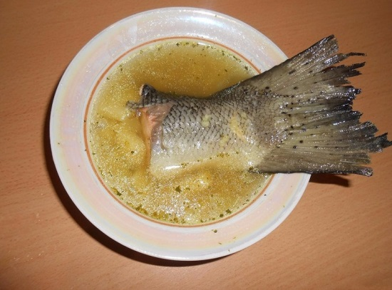 Суп из головы семги: рецепт