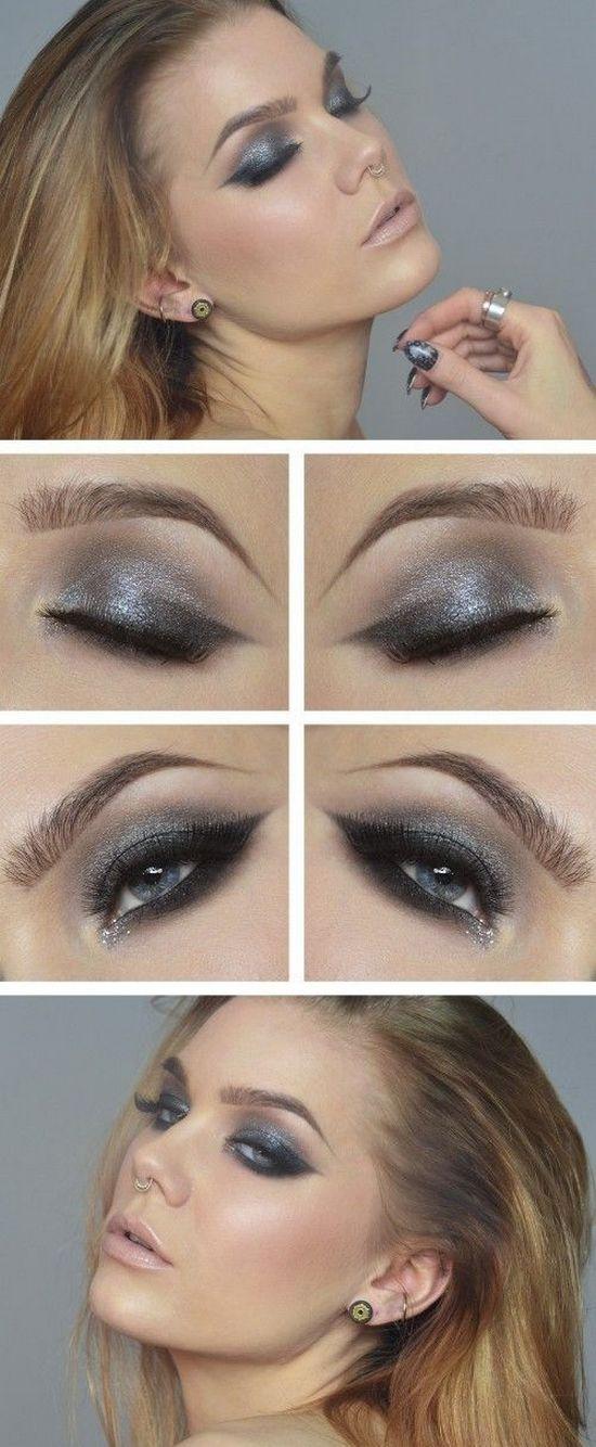 макияж для серых глаз пошагово