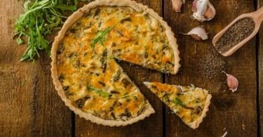 лоранский пирог с курицей, грибами