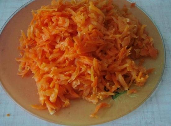 морковь на меленькой терке